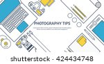 photography equipment with...   Shutterstock .eps vector #424434748