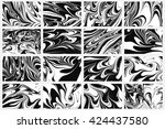 set ink texture of 16... | Shutterstock .eps vector #424437580