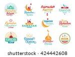 ramadan kareem. vector...   Shutterstock .eps vector #424442608