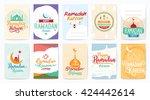 ramadan kareem. vector... | Shutterstock .eps vector #424442614