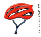 bicycle helmet vector... | Shutterstock .eps vector #424451173