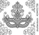 vector black and white... | Shutterstock .eps vector #424451758