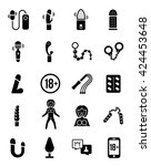 sex toy vector icon set | Shutterstock .eps vector #424453648