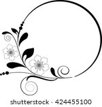 round frame with decorative... | Shutterstock .eps vector #424455100