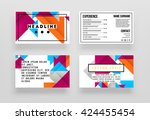 geometric vector business cards ... | Shutterstock .eps vector #424455454