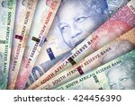 south african rand bills... | Shutterstock . vector #424456390