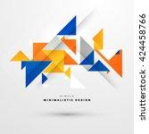 geometric vector background.... | Shutterstock .eps vector #424458766