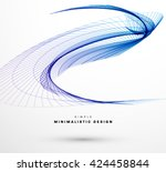 geometric vector wave. abstract ... | Shutterstock .eps vector #424458844