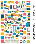 infographics elements. big set... | Shutterstock .eps vector #424459144