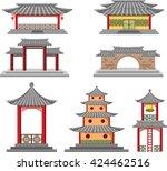 korea palace   Shutterstock .eps vector #424462516