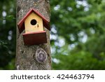 bird box in the forest | Shutterstock . vector #424463794