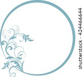 round frame with decorative... | Shutterstock .eps vector #424466644