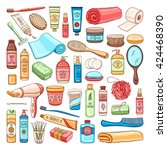 vector hand drawn personal... | Shutterstock .eps vector #424468390