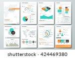 set of flyer  brochure design... | Shutterstock .eps vector #424469380