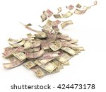 falling indian currency rs.1000 ...   Shutterstock . vector #424473178