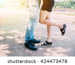 couple in relationship kissing