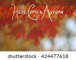 Autumn Background Of Blurred...