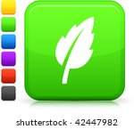 leaf icon on square internet... | Shutterstock .eps vector #42447982
