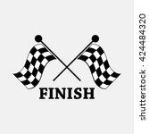 Race Flag  Finish Illustration.