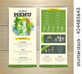 watercolor cocktail menu design.... | Shutterstock .eps vector #424485643