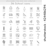 vector school ultra modern... | Shutterstock .eps vector #424486294