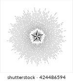 vector illustration of light... | Shutterstock .eps vector #424486594