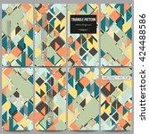 set of modern vector flyers.... | Shutterstock .eps vector #424488586