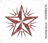vector design. vintage star. | Shutterstock .eps vector #424488676