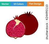 flat design icon of pomegranate ...