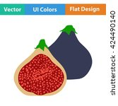 flat design icon of fig fruit...
