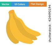 flat design icon of banana in...
