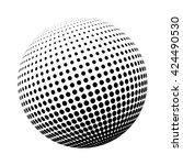 halftone logo template.... | Shutterstock .eps vector #424490530