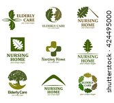elderly care. logo for the... | Shutterstock .eps vector #424495000