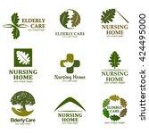 elderly care. logo for the... | Shutterstock .eps vector #424495000