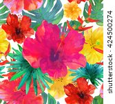 seamless floral  background.... | Shutterstock .eps vector #424500274