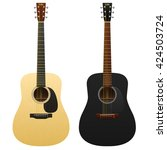 realistic acoustic guitars... | Shutterstock .eps vector #424503724