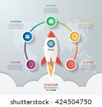 startup vector circle... | Shutterstock .eps vector #424504750