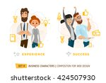 business characters in circle.... | Shutterstock .eps vector #424507930