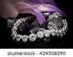 diamonds bracelet  | Shutterstock . vector #424508290