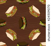 seamless pattern of two types... | Shutterstock .eps vector #424509070