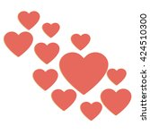 love hearts  a collection of... | Shutterstock .eps vector #424510300