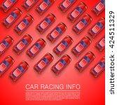 traffic jam on the road. red... | Shutterstock .eps vector #424511329