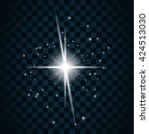 shine star with glitter and... | Shutterstock .eps vector #424513030
