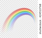 Rainbow Icon. Shape Arch...
