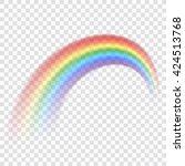 Rainbow Icon. Shape Arch...