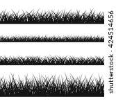 grass silhouette seamless... | Shutterstock .eps vector #424514656
