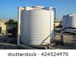 white water tanks of industrial ... | Shutterstock . vector #424524970