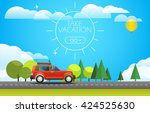take vacation travelling... | Shutterstock .eps vector #424525630