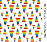 pattern children's pyramid   Shutterstock .eps vector #424531270