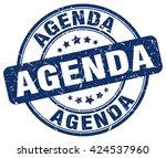 agenda. stamp | Shutterstock .eps vector #424537960
